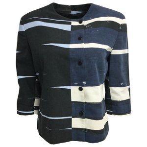 Akris Punto Blue Cotton Jacket